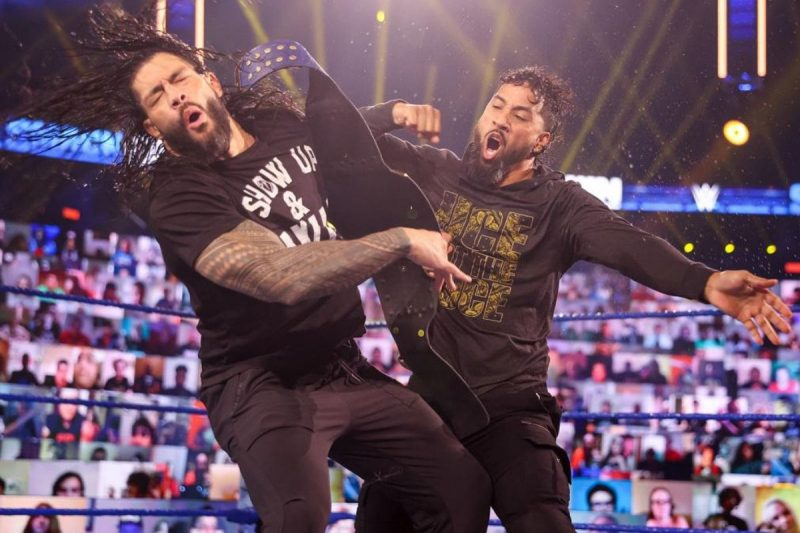 Jimmy Uso Comes to Brother Jey's Aid as Roman Reigns Gets a Taste of Hell in a Cell