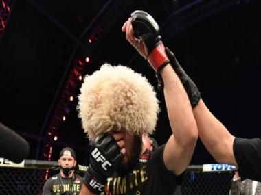 Khabib Nurmagomedov announces retirement from mixed martial arts after choking out Justin Gaethje