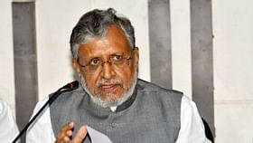 NDA Candidate Sushil Modi Files Nomination For Bihar's RS Bypoll